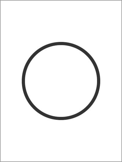 紙に丸を描く