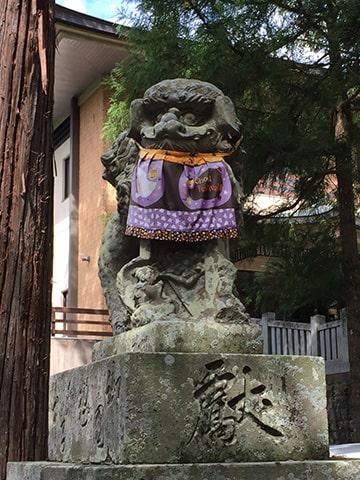 大麻比古神社の狛犬さん