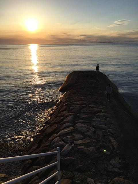伊予灘の夕日