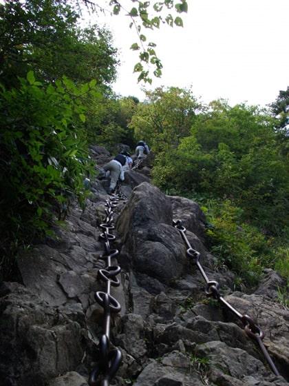 石鎚山の鎖場