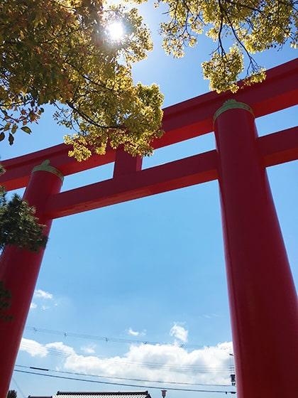 迫力のおのころ島神社大鳥居