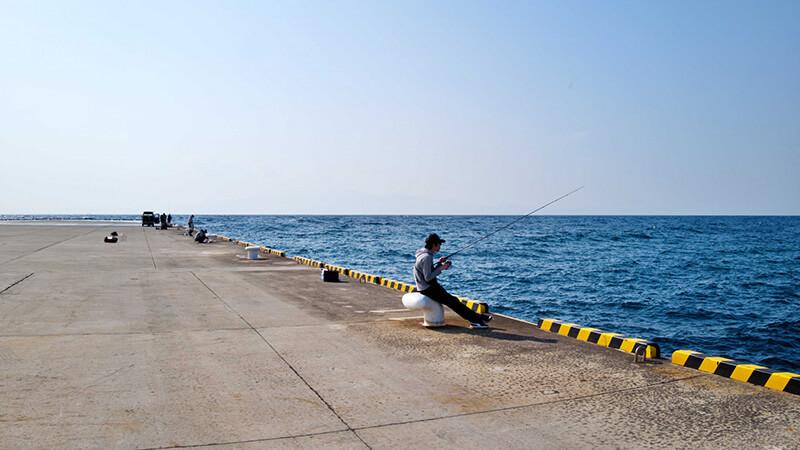 堤防サビキ釣り